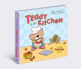 Teddy in the Kitchen